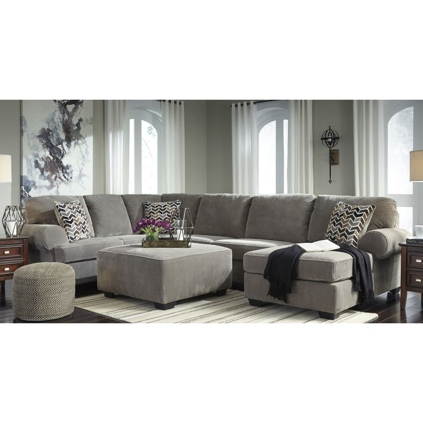 Best Signature Design By Ashley Jinllingsly Gray 4 Piece Living 400 x 300