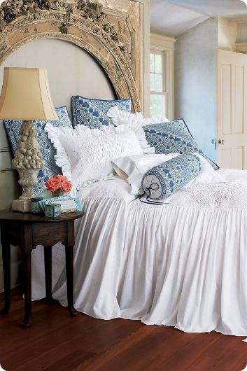 Santorini Skirted Coverlet White Imagine Yourself Watching The