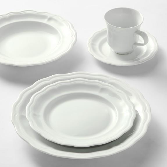 Pillivuyt Queen Anne Porcelain Dinnerware Sets Williams Sonoma In 2020 Porcelain Dinnerware Dinnerware Sets Tableware Set