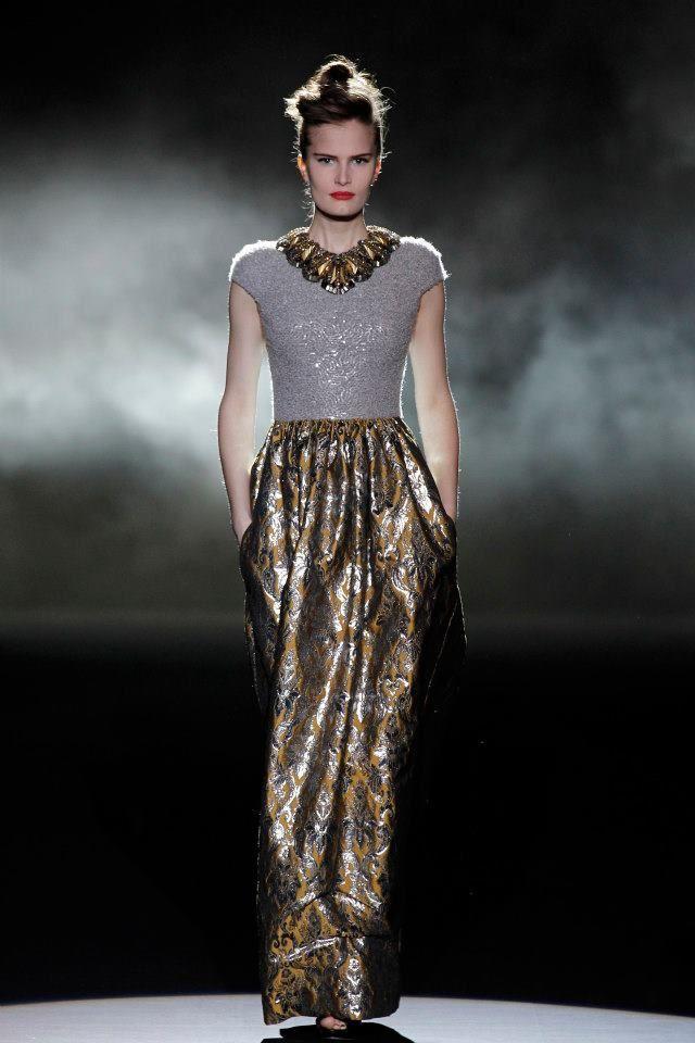 Moda vestidos de noche otono invierno 2014