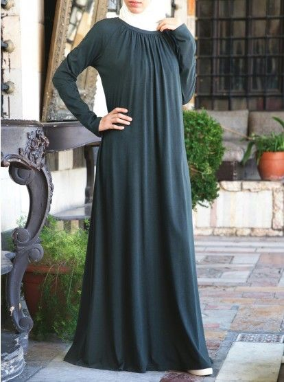 6f1ca1ef6119 Classic Jersey Abaya | Abaya fashion | Abaya fashion, Hijab Fashion ...