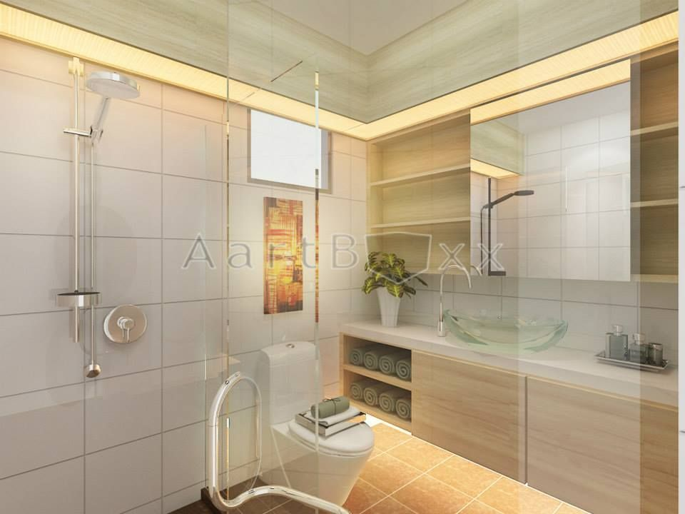 Hdb bto scandinavian anchorvale blk 326a interior for Small bathroom design singapore