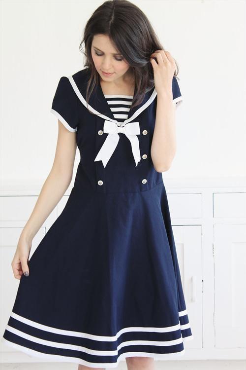 Sweetest Vintage Sailor Dress | Nautical & Sailor Fashion | Pinterest
