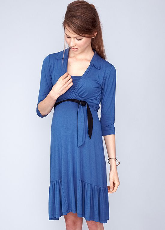 Dote Mallory Nursing Shirt Dress In Blue Breastfeeding Dress Nursing Dress For Wedding Breastfeeding Clothes
