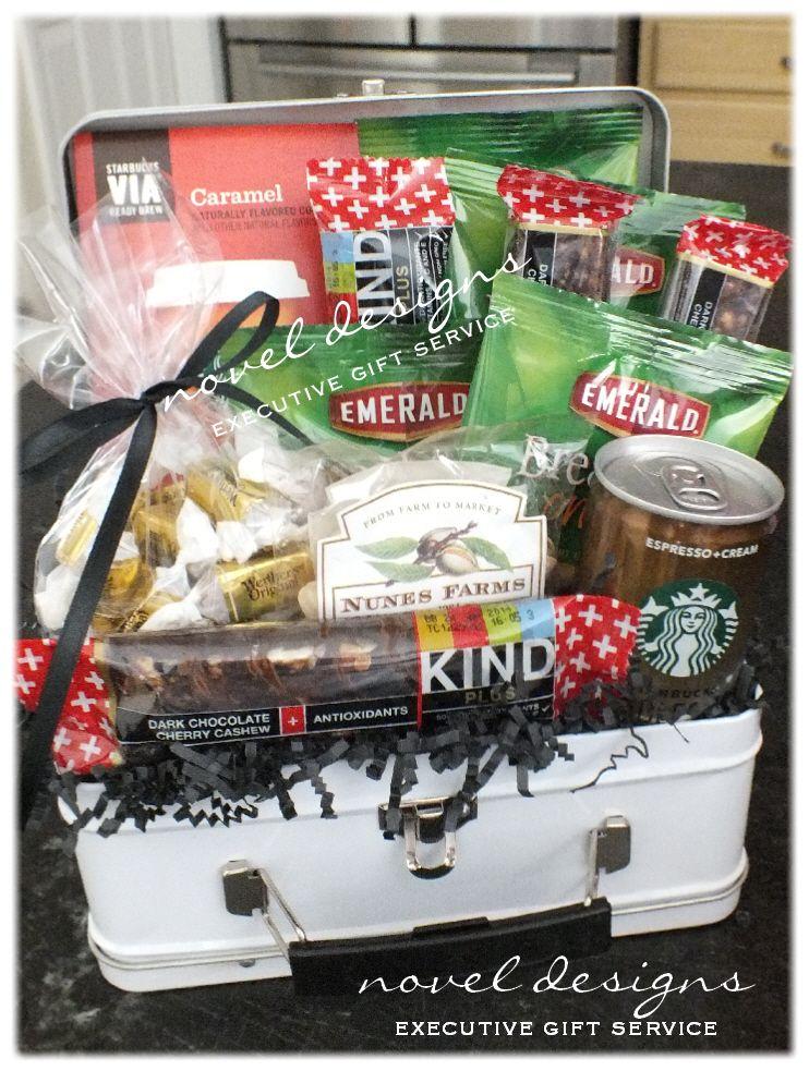 Breakfast on the go gift basket custom giftbaskets
