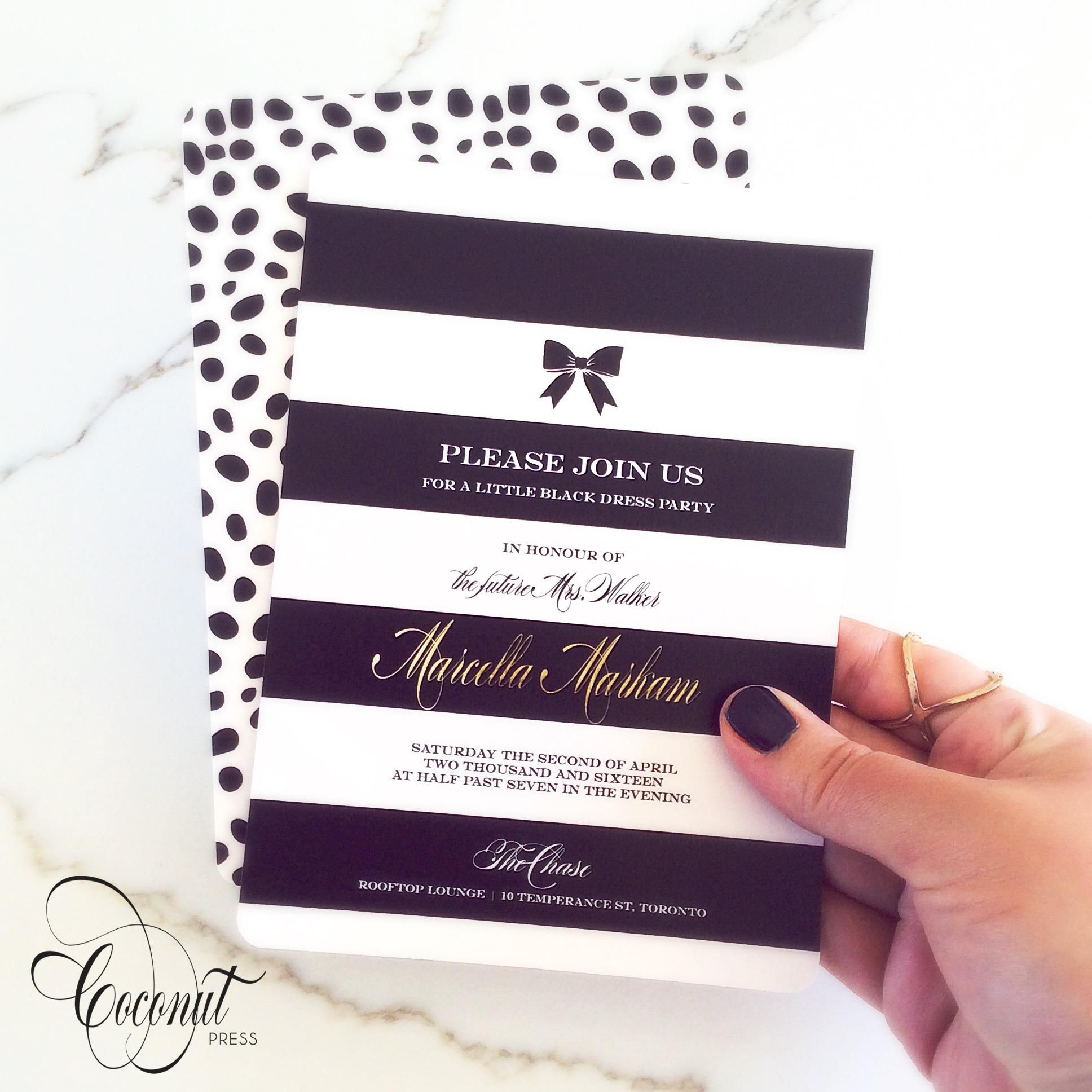 Stripes and Spots Bridal Shower Invitation Kate Spade inspired