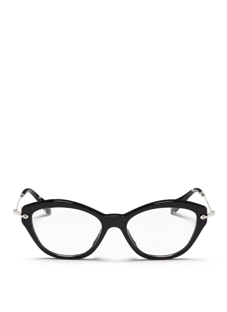 MIU MIU \'Noir\' acetate cat eye optical glasses | Eyeglasses ...