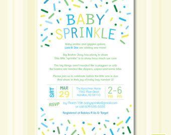 Baby Boy Sprinkle Invitation Digital File Baby Boy Pinterest