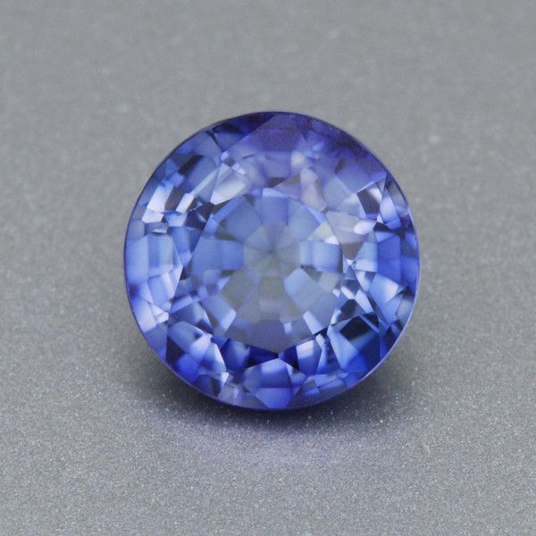 7mm Brilliant Round Periwinkle Blue Lab Created Sapphire