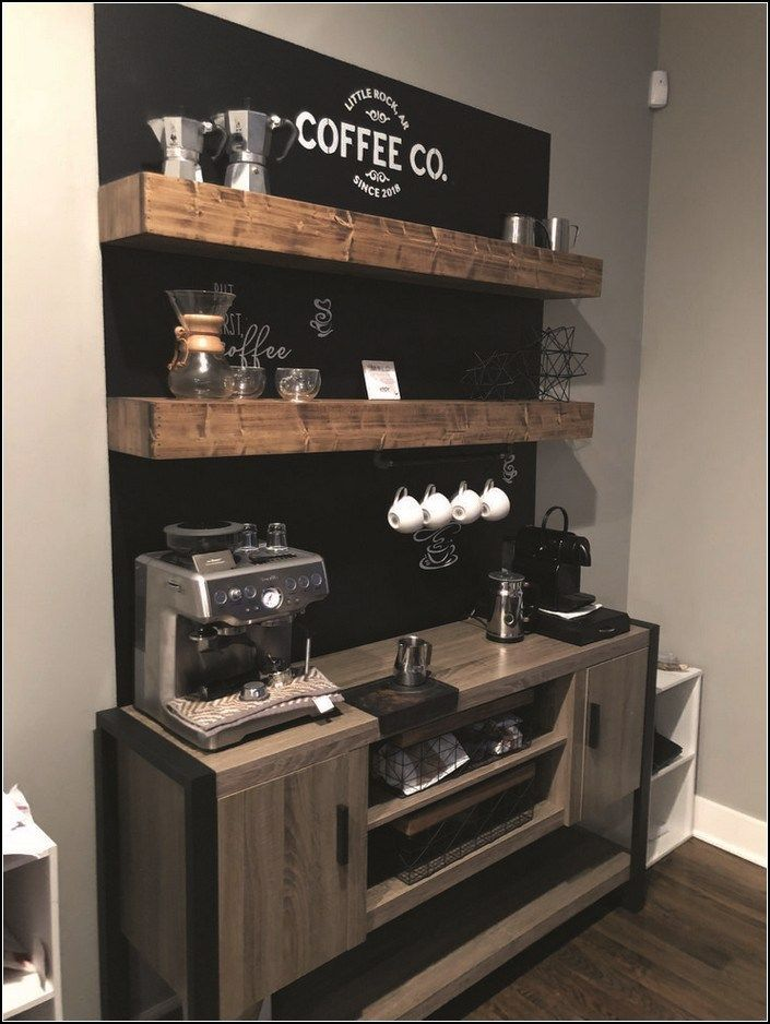 120+ best home coffee bar ideas for all coffee lovers 42 ~ myhomeku.com #coffeebarideas