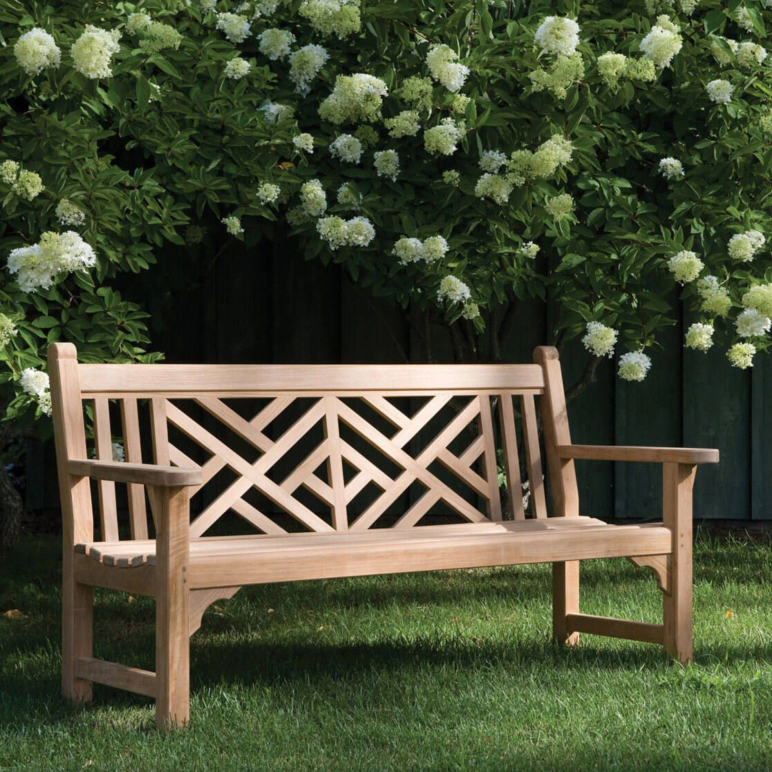 Kingsley Bate Chippendale Teak BenchKingsley Bate Teak Chippendale Bench   Kingsley  Bate Combines The Delicacy Of Chinese Latticework And The Durability Of ...