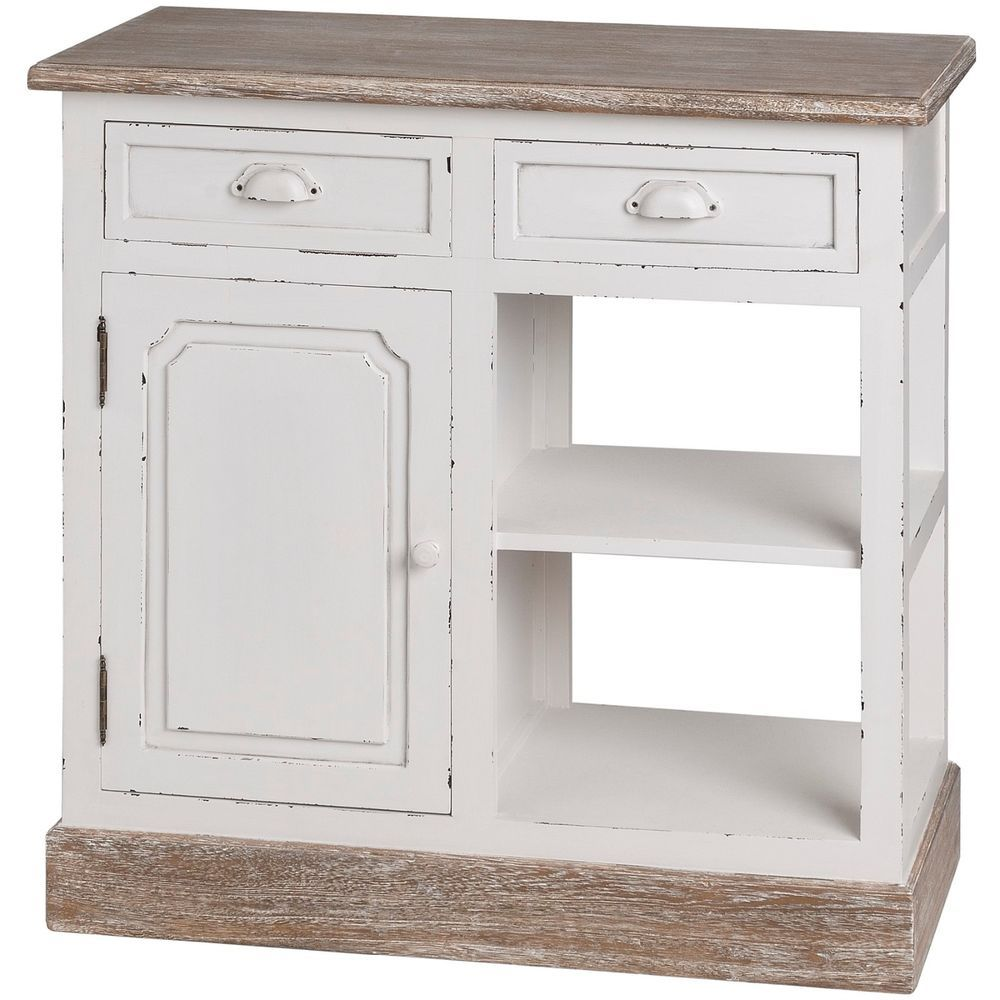Display Cabinet Kitchen Bathroom Unit Wood New England Style Off ...