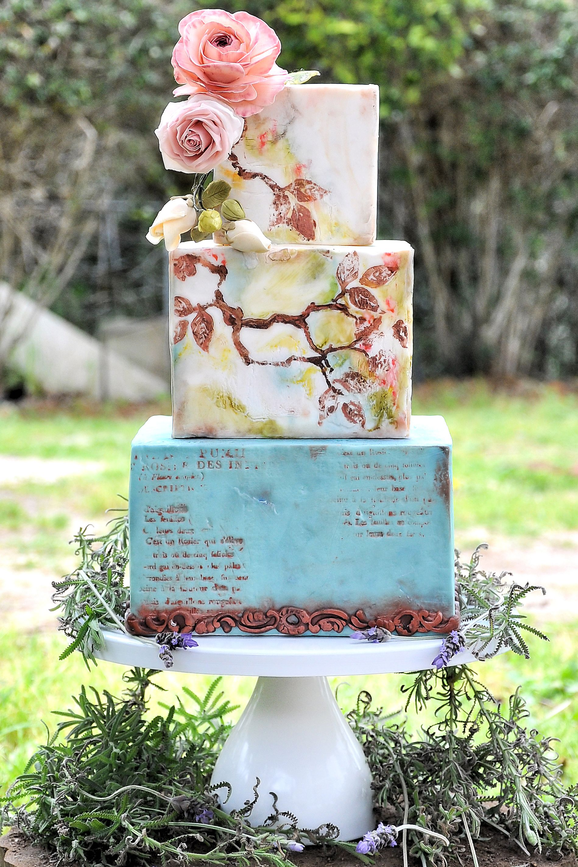 inch round modern metal wedding cake stand white in cake