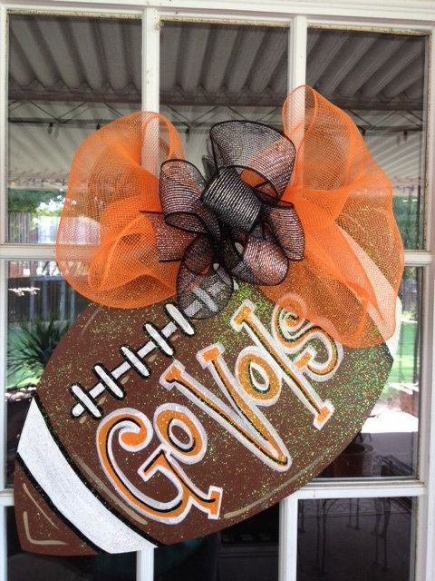 How about Go LHS! Door Hanger: Wooden Football Door ...