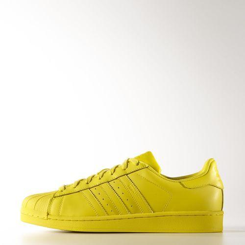 ADIDAS X PHARRELL WILLIAMS Superstar Bright Yellow Flat
