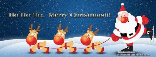 Ho Ho Ho Merry Christmas Santa Facebook Cover