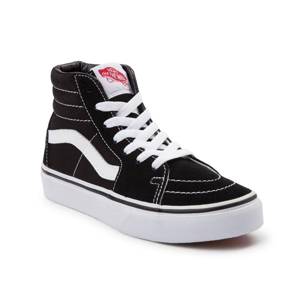 Youth Vans Sk8 Hi Skate Shoe - Black/White - 1499934 | Vans ...