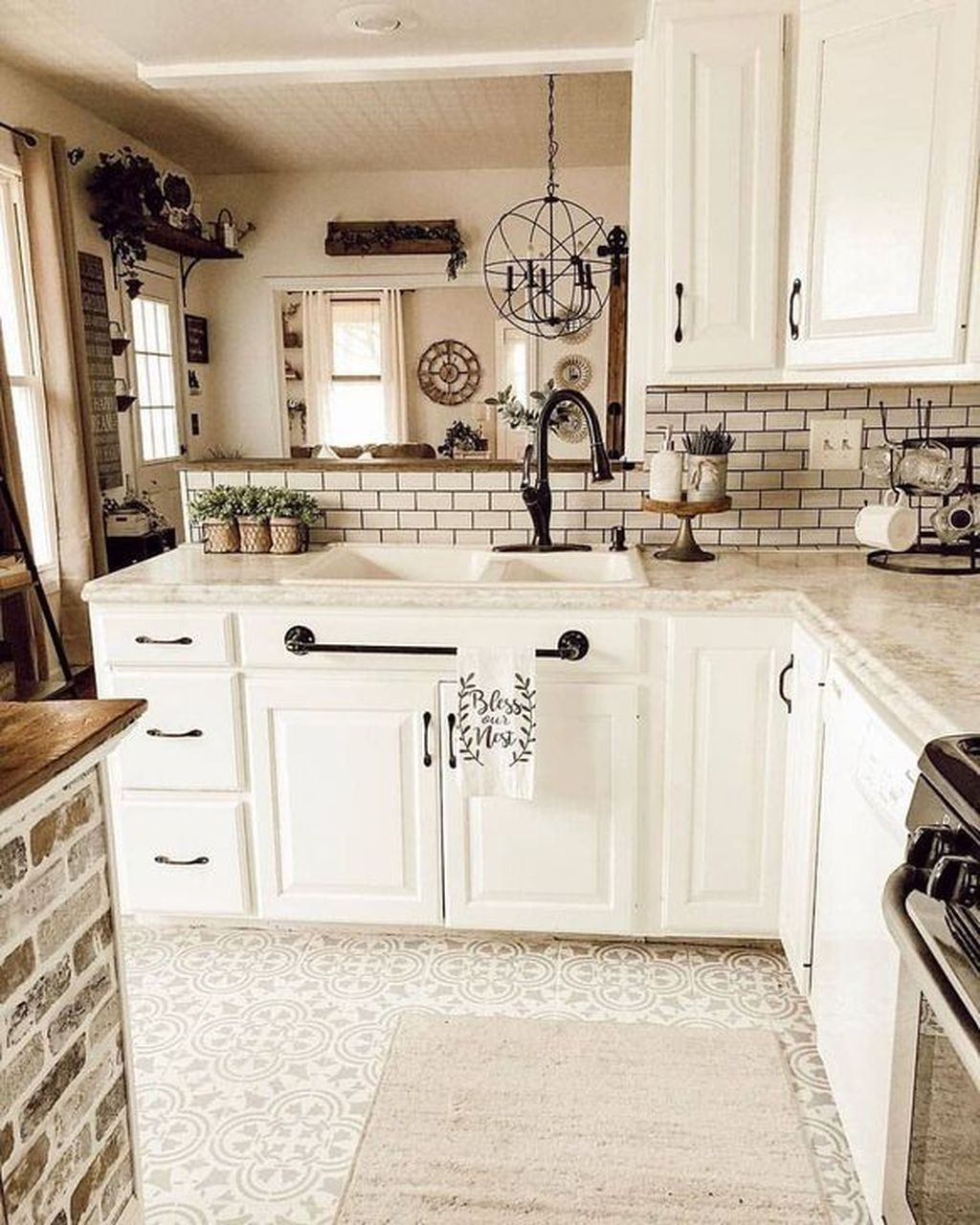 39 Great Ideas For Modern Farmhouse Kitchen Decorations - MAGZHOUSE