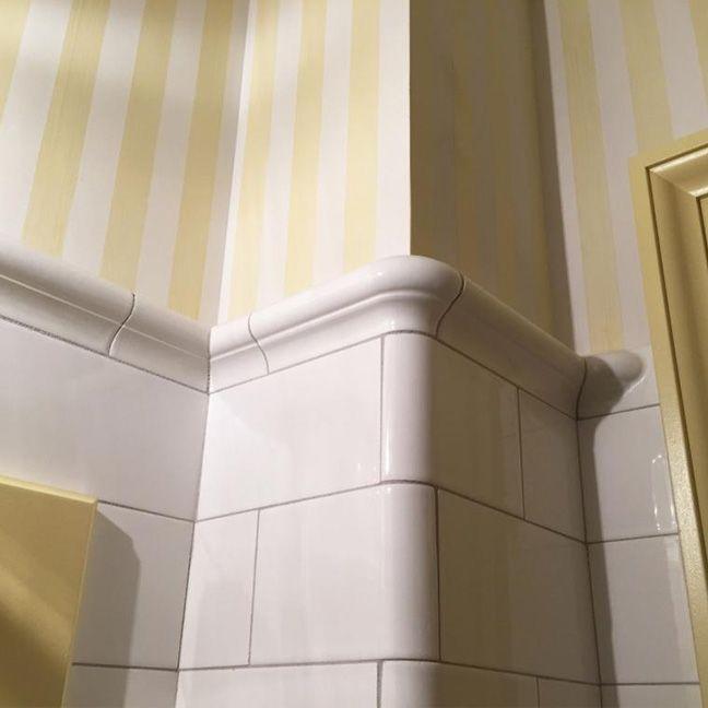 Kitchen Backsplash Corner: Rounded Corner Subway Tile