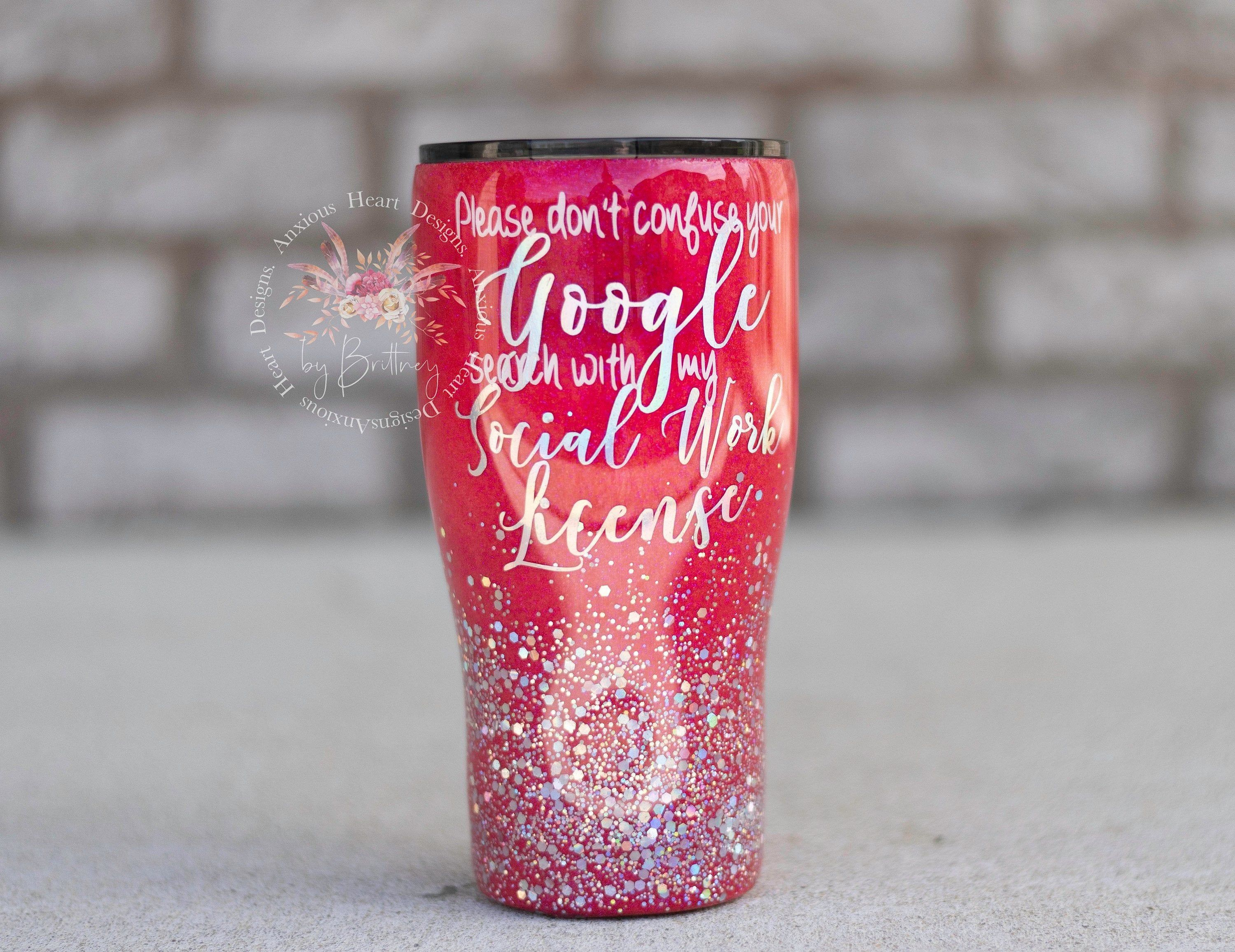 Glitter Stainless Steel Wine Tumbler Pink Silver Etsy Tumbler Designs Custom Personalized Gifts Wine Tumblers