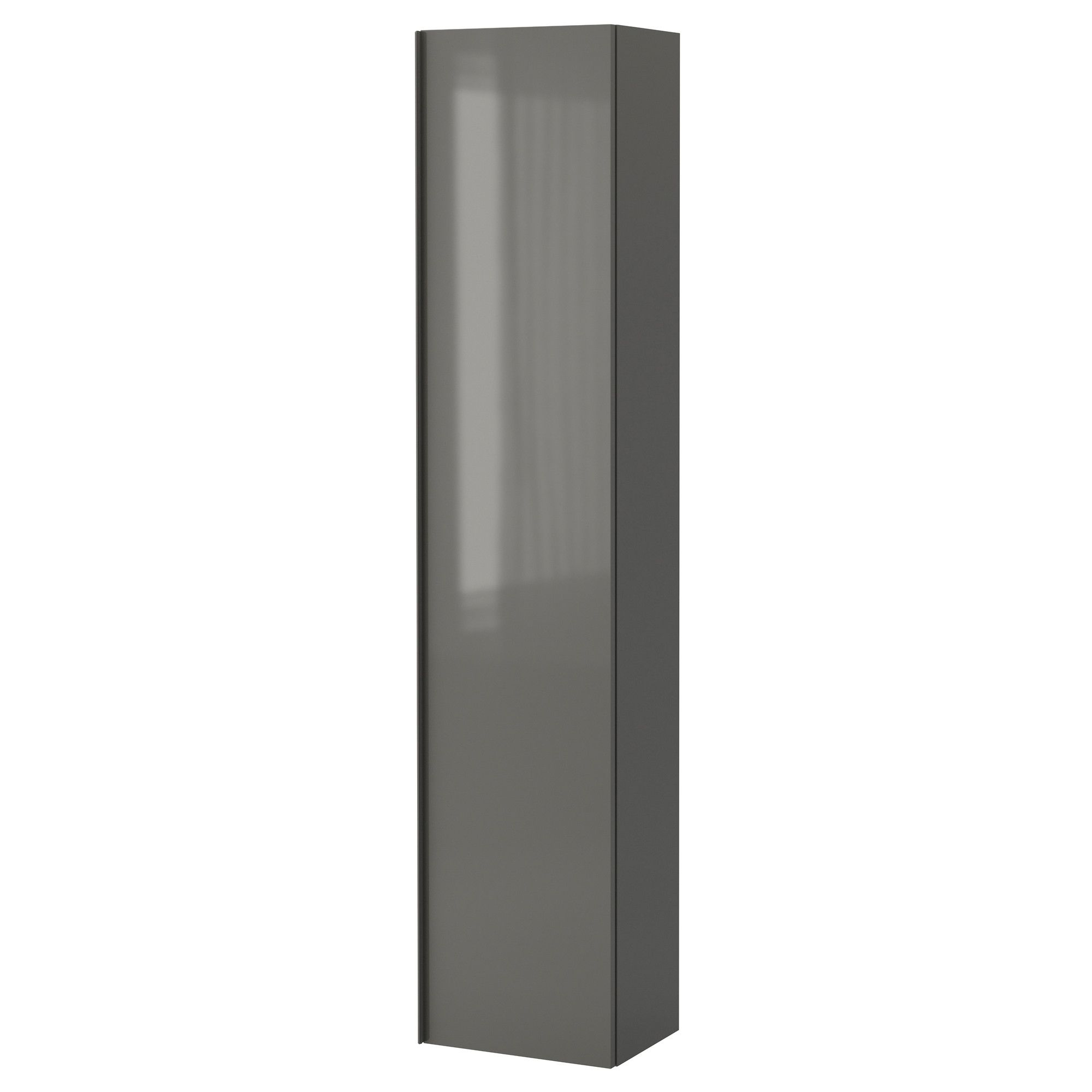 BOYS BATHROOM: IKEA GODMORGON High cabinet - high gloss gray. We ...