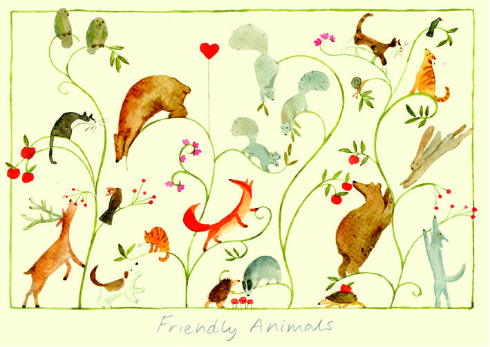 ID31 Friendly Animals  - A Two Bad Mice Card by Anna Shuttlewood