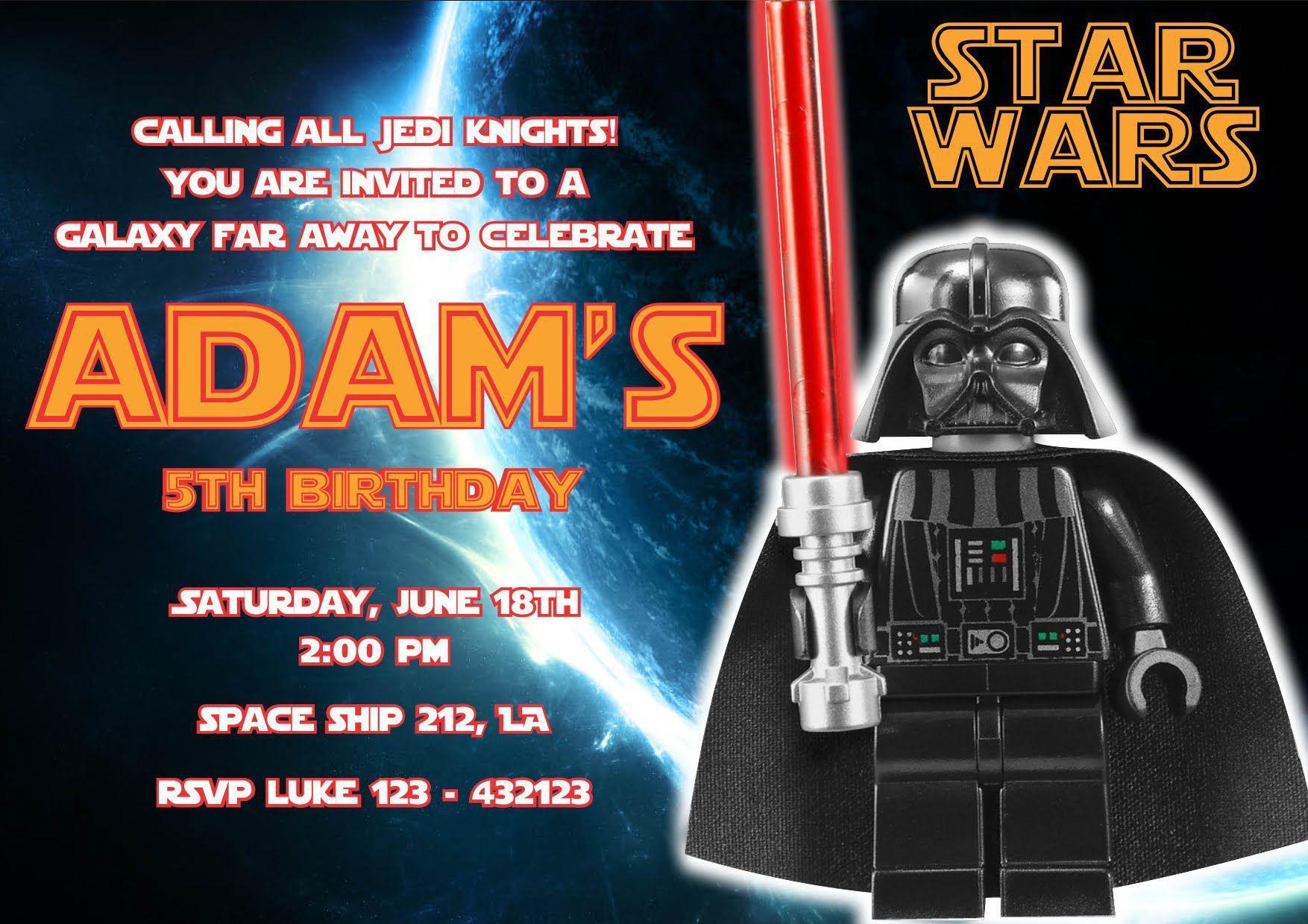 Einladung Kindergeburtstag Star Wars Text