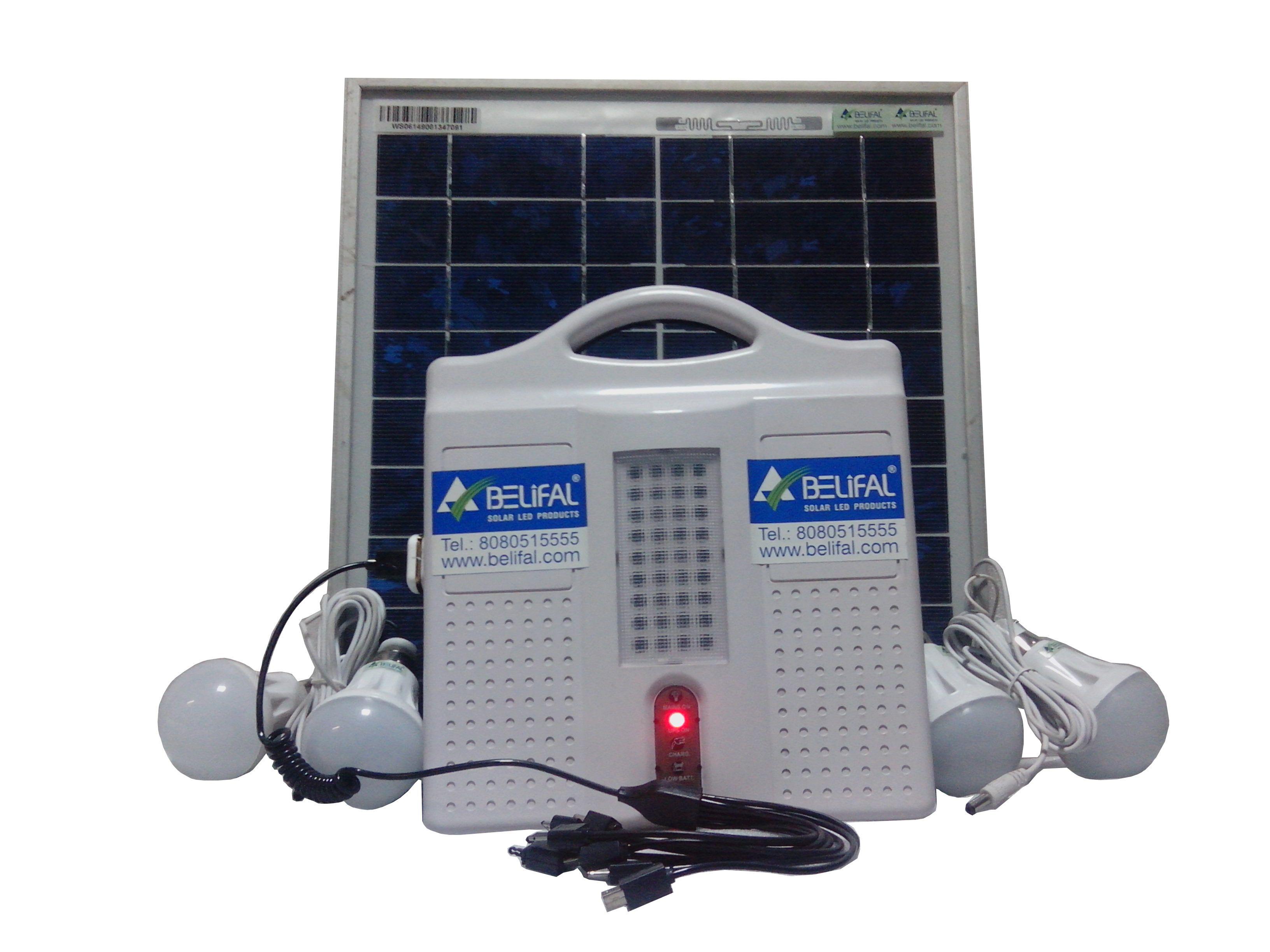 Solar Home Lighting System DC 12v Solar Surya Shakti Generator is