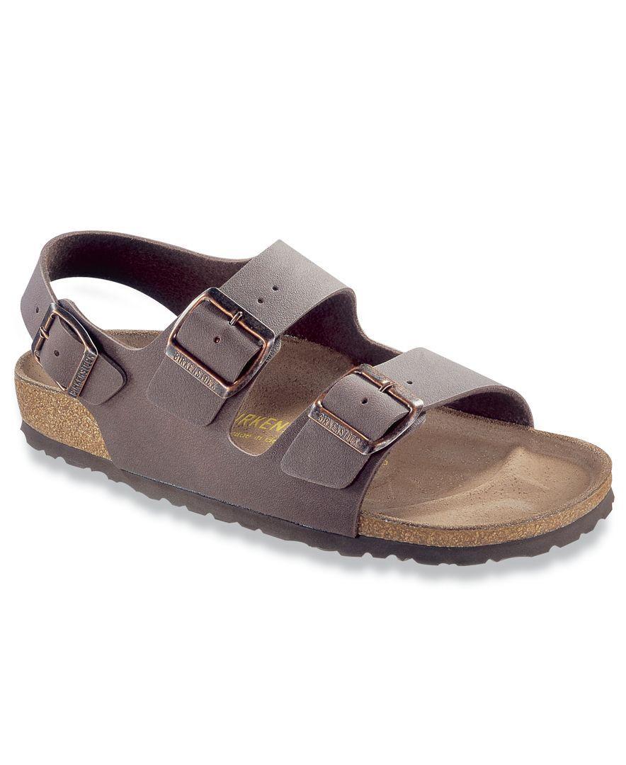 1234b2357d95 Birkenstock Milano Birkibuc Back Strap Sandals