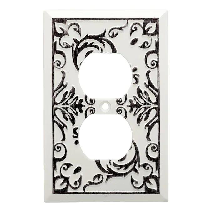 Brainerd Fairhope 1 Gang White Wash Single Duplex Standard Wall Plate Lowes Com Plates On Wall Fairhope White Wash Walls