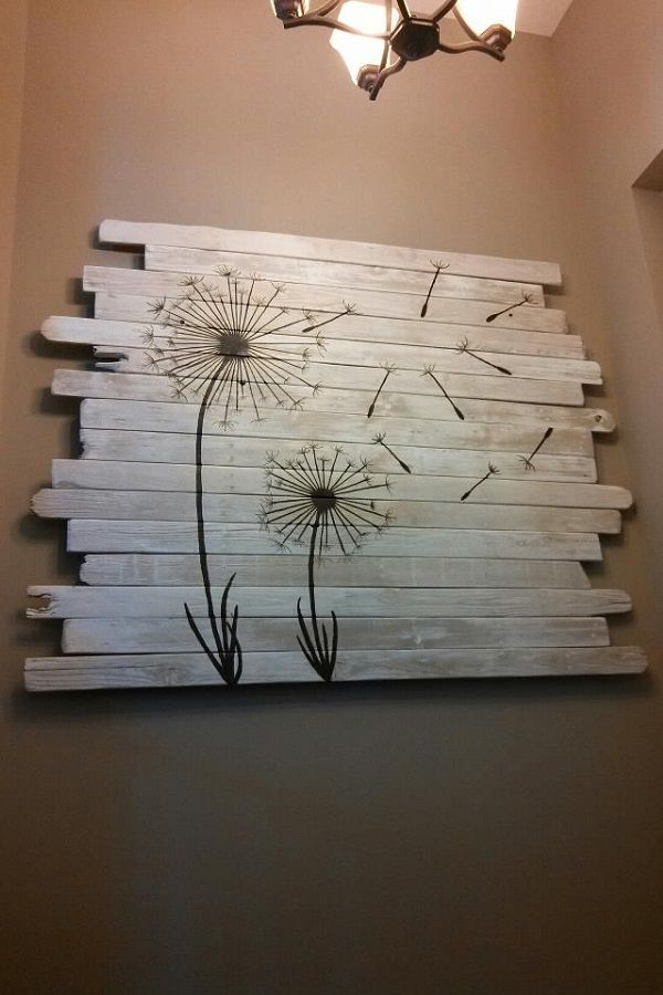 Awesome Leftover Laminate Flooring Diy Wall Painting Project From
