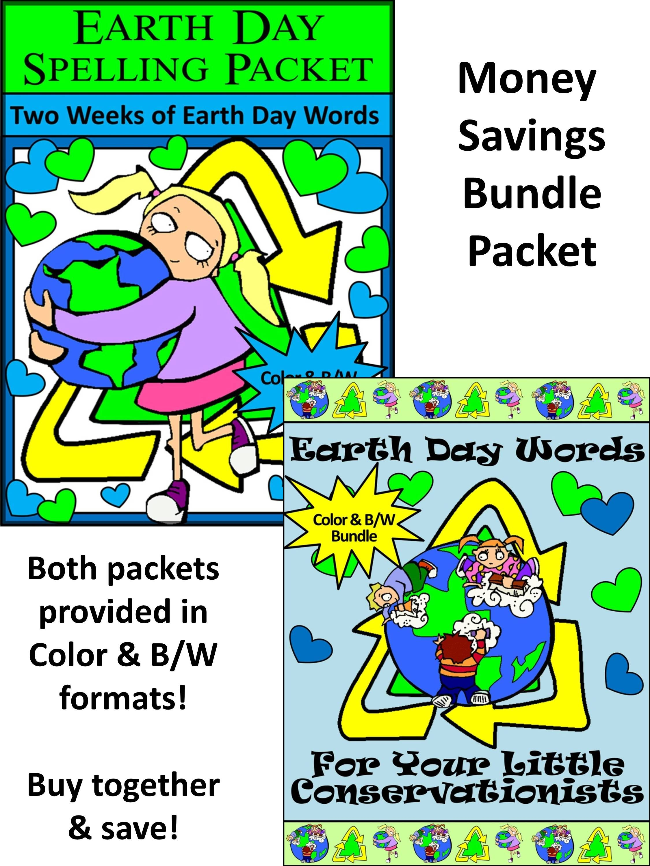 Earth Day Activities Earth Day Spelling Amp Words Bundle