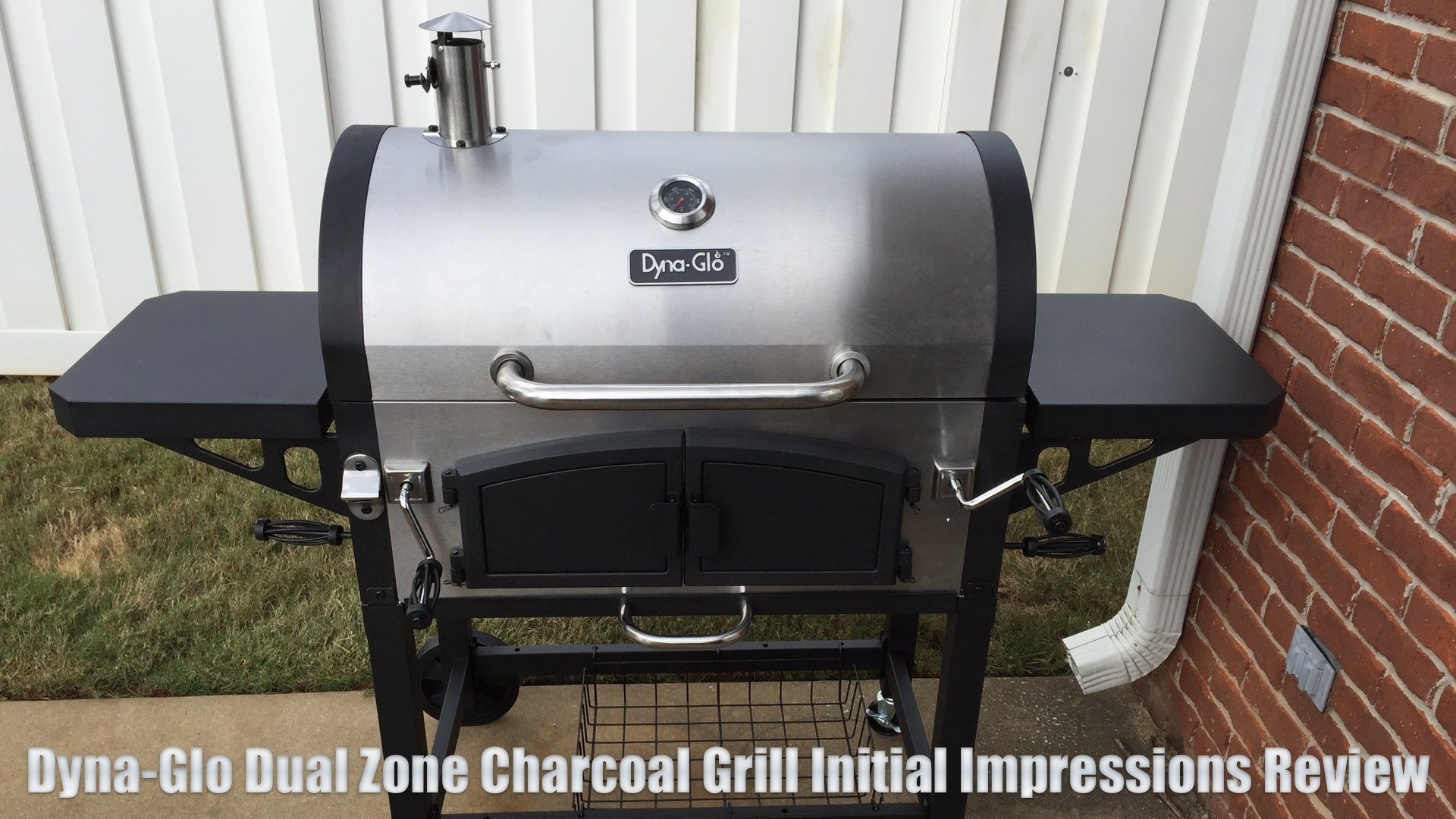 dyna glo dual zone charcoal grill first impressions review smoking