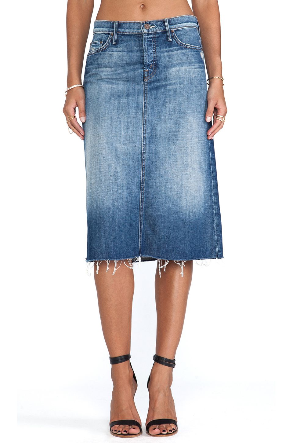 8b24cf3e3 This ain't your mother's denim skirt. MOTHER  #REVOLVEclothing ...