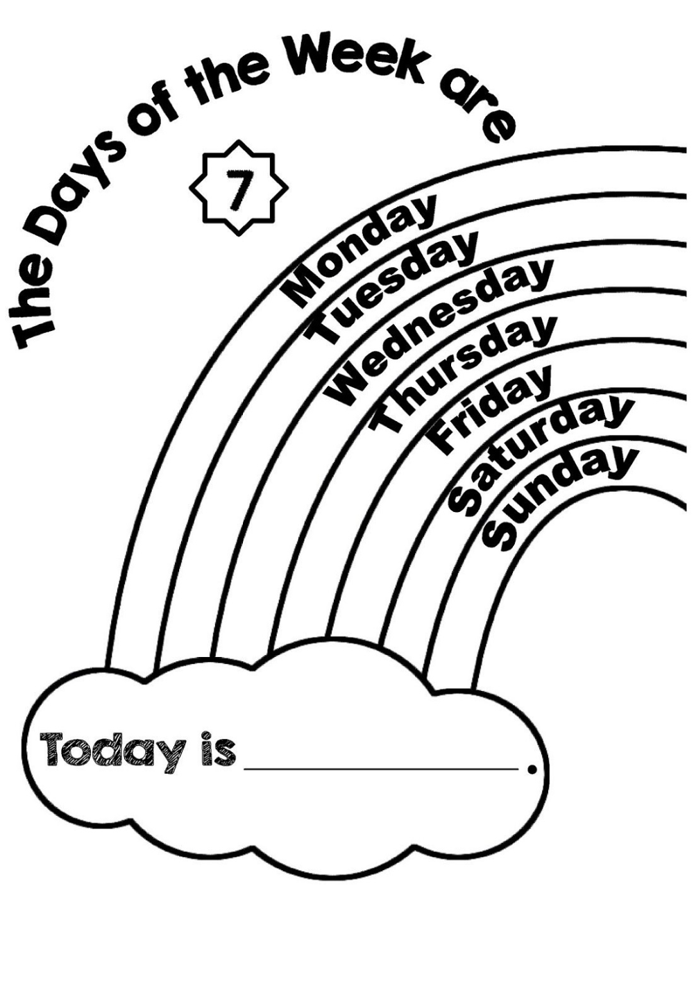 Days Of The Week Worksheet Coloring English Worksheets For Kids Worksheets For Kids Preschool Learning [ 1424 x 1000 Pixel ]