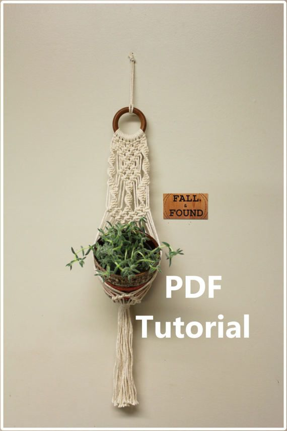 Macrame Plant Hanger Pattern Pdf Tutorial Download