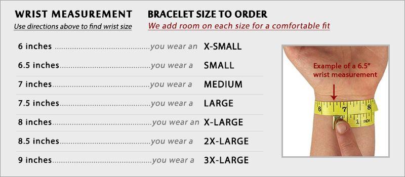 Bracelet Sizing Chart Bracelet sizes, Bracelets, Chart