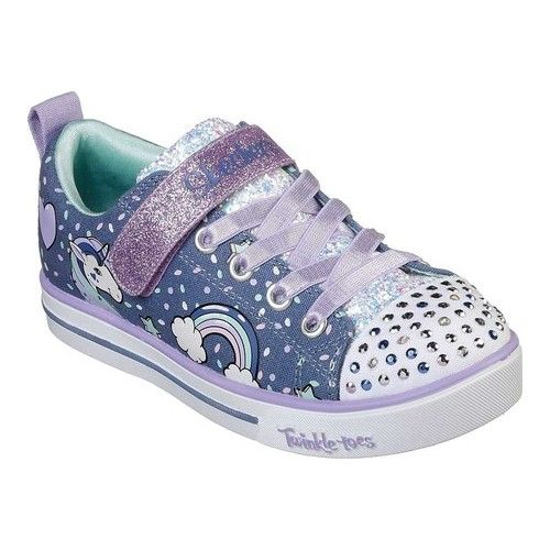 8d950857d82b Girls  Skechers Twinkle Toes Shuffles Sparkle Lite Sneaker - Denim Lavender  Sneakers