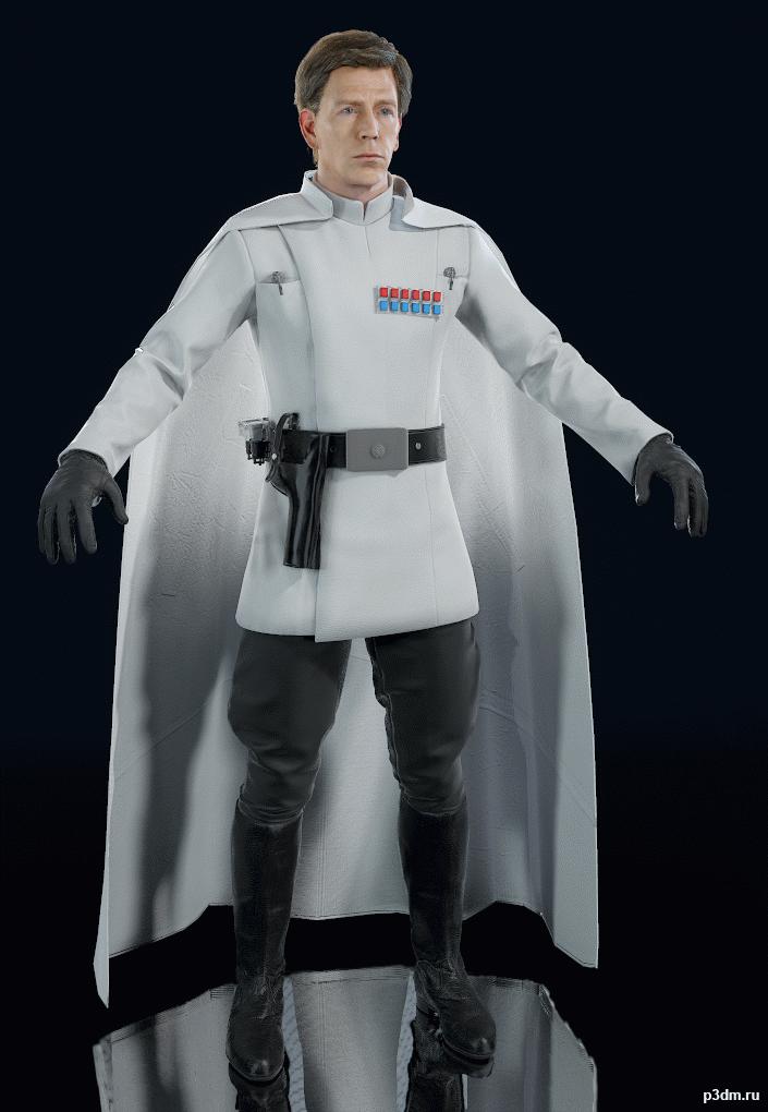 Star Wars Battlefront 2015 Director Krennic Pack 3d Models Star Wars Battlefront Star Wars Planets Battlefront