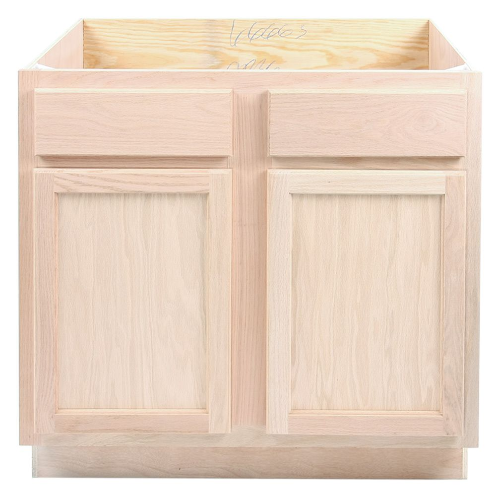 Best Kitchen Sink Base Cabinet Unfinished Oak 36 400 x 300