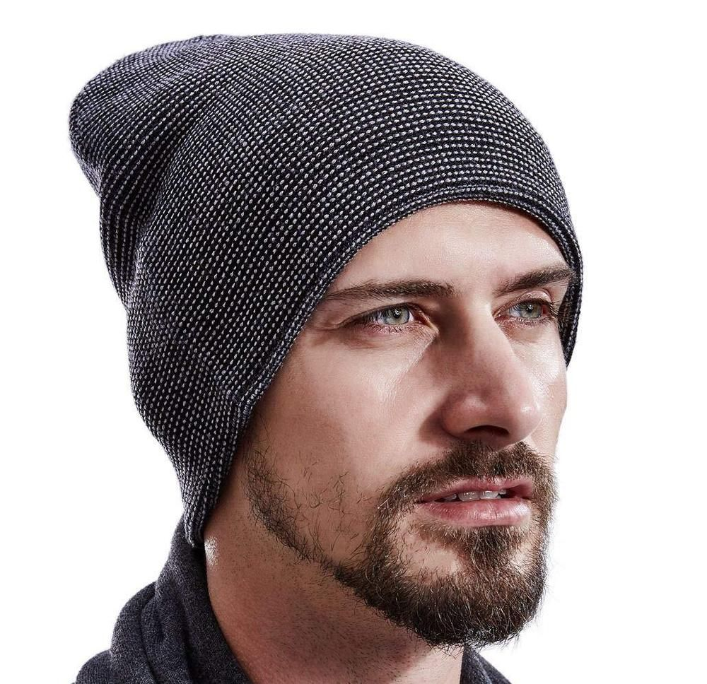 ef49ed4d3d7 SALE Men Cashmere Beanie Hat Winter Wool Skull Cap Unisex ...