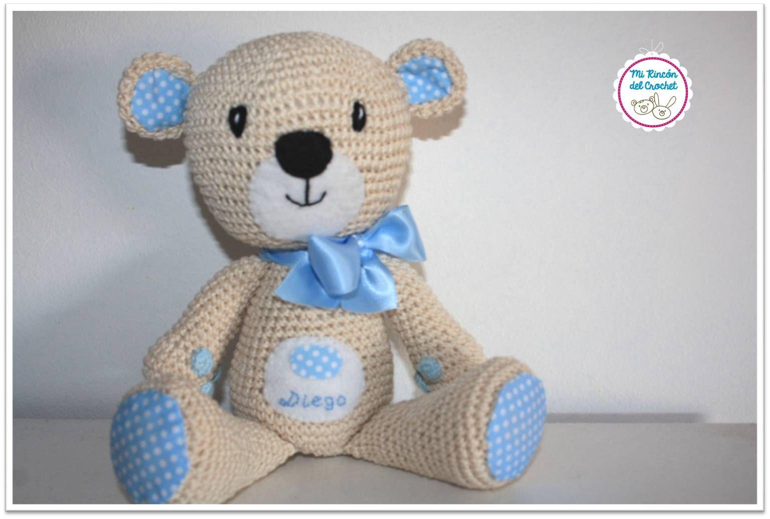 muneco-de-oso-tejido-a-crochet | tejidos | Pinterest | Crochet