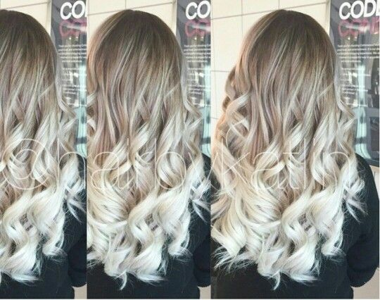 Blonde Ombre Hairstyles Colors: Ash Blonde Silver Ombre