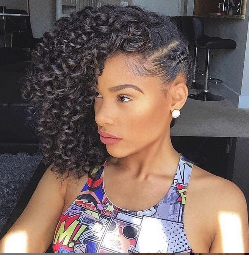 Single Braid With Side Rod Curls Medium Natural Hair Styles Side Curly Hairstyles Curly Hair Styles Naturally