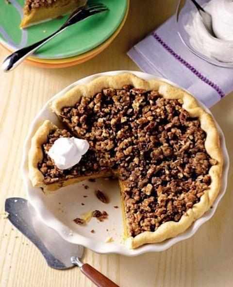 Thanksgiving Desserts Pecan Pie Pumpkin Pie More: Recipe: Maple Pumpkin Pie With Pecan Streusel And Maple