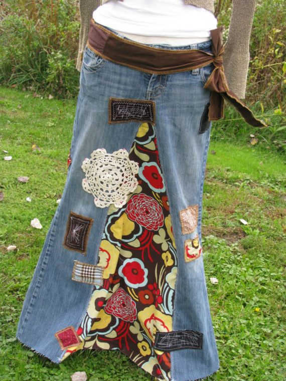 Skirt with patchwork
