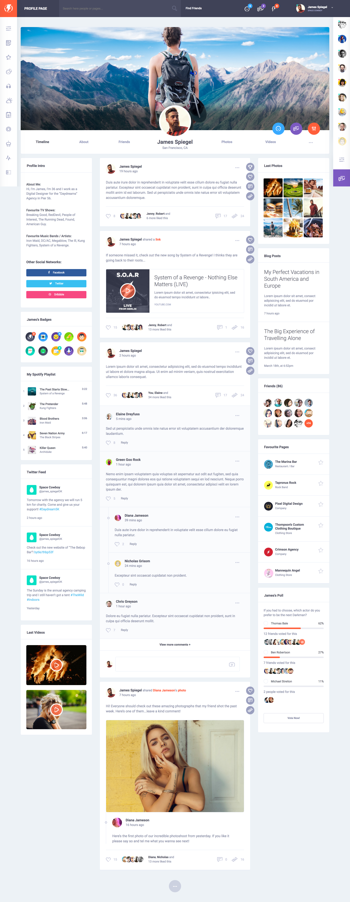 Olympus html social network toolkit social networks template olympus html social network toolkit pronofoot35fo Images