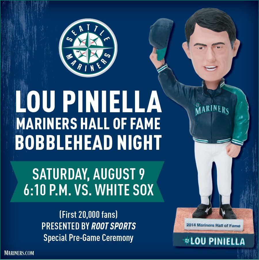 Lou Piniella Mariners Hall of Fame Bobblehead Night is