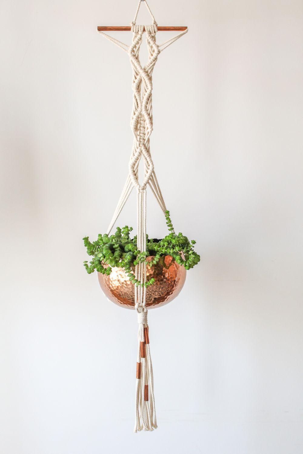 Macrame Plant Hanger :: Copper Love … | Pinteres…