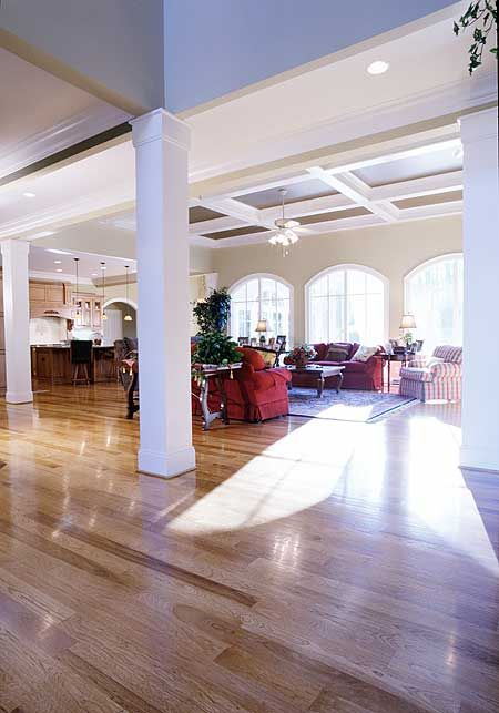 Sun-filled Great Room in Architectural Designs House Plan 26681GG